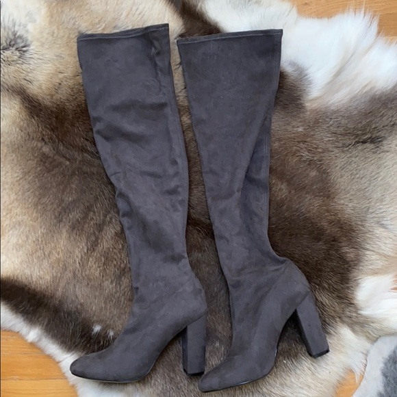 Micro Suede Knee High Boots